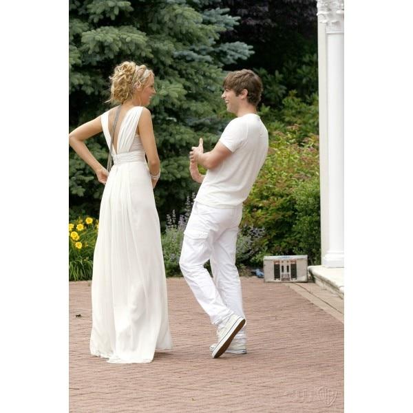 Blake Lively (Serena) White Chiffon Prom Dress Gossip Girl Season 2