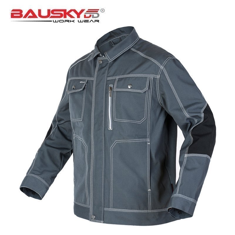 Men Workwear Jacket High quality Multi pockets Long sleeved Work clothes uniforms Male mechanic construction Working