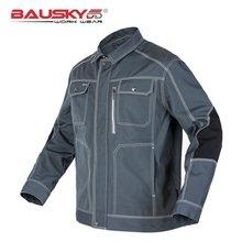 الرجال سترات العمل عالية الجودة متعددة جيوب طويلة الأكمام ملابس العمل زي الذكور ميكانيكي البناء سترات العمل
