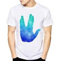 Summer Fashion Tops Live Long Prosper T Shirt Star Trek Spock Galaxy Tee Shirt Funny Short