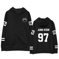 2017 New Kpop Fashion Uniform BTS Jimin Jung Kook Baseball Hoodie Cotton Coat With Hat