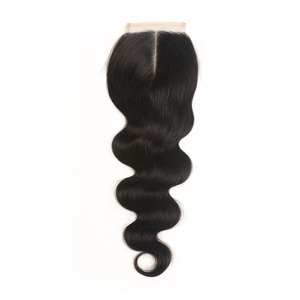 Image 3 - Ali graça fechamento brasileiro da onda do corpo 4x4 cor do laço transparente mão amarrada remy cabelo humano fechamento do laço brasileiro