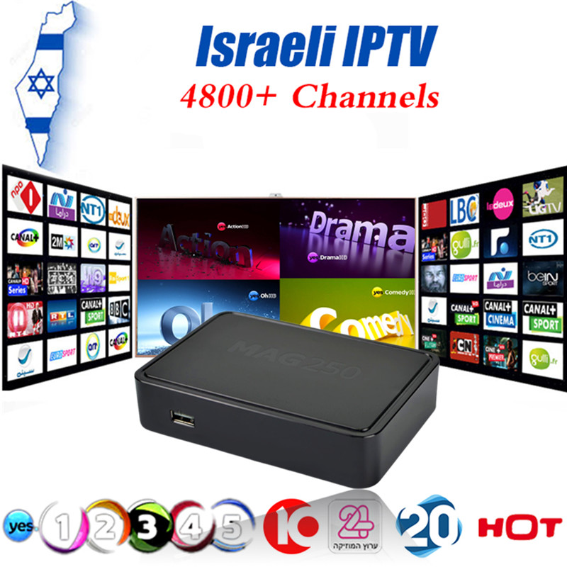Hebrew IPTV Israeli Yes Amos IPTV Box Mag250 Linux System IPTV Set Top Box Processor STi7105 RAM 256 Mb Top Quality IPTV BOX raphael israeli dabry de thiersant