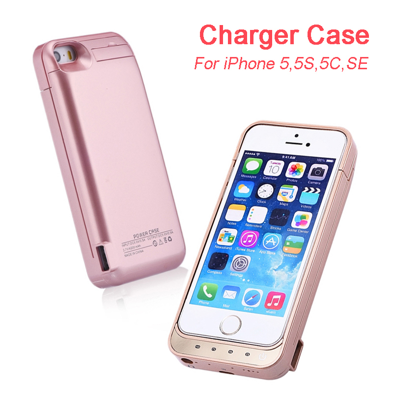iphone 5 charging case charger for iphone 5 5c 5s se 4200mah backup battery 14507