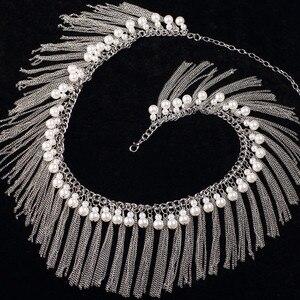 Image 5 - Mädchen großhandel perlen gürtel frauen dance Schmuck perlen bauchtanz kleidung mode bauchtanz hüfte schal auf verkauf