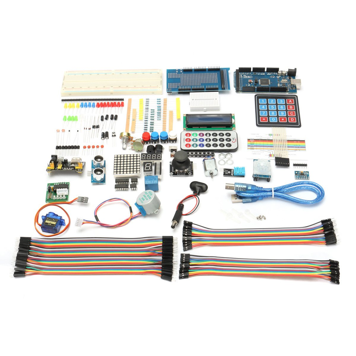 Image 2 - New DIY Electric Unit Ultimate Starter Kit for Arduino MEGA 2560 1602 LCD Servo Motor LED Relay RTC Electronic kit-in Electronics Stocks from Electronic Components & Supplies