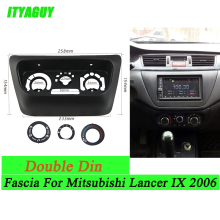 New AC Control Accessories Panel for Mitsubishi Lancer IX 2006 Center Control Fascias Panel ABS Plastic Black Frame