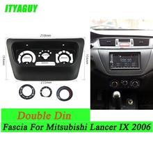 Neue AC Control Zubehör Panel für Mitsubishi Lancer IX 2006 Zentrum Control Blenden Panel ABS Kunststoff Schwarz Rahmen
