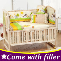 5PCS Set Newborn Baby Bed Bumper Set Baby Crib Bumper Baby Crib Bedding Set Cartoon Animal