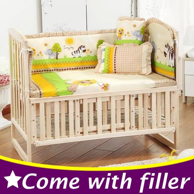 8811154a760b 5PCS Set Newborn Baby Bed Bumper Set Baby Crib Bumper Baby Crib ...