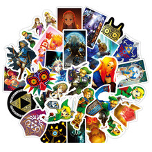 50pcs/set Game The Legend of Zelda Stickers Cosplay Prop Accessories PVC Cute Cartoon Decal Waterproof Luggage Sticker(China)