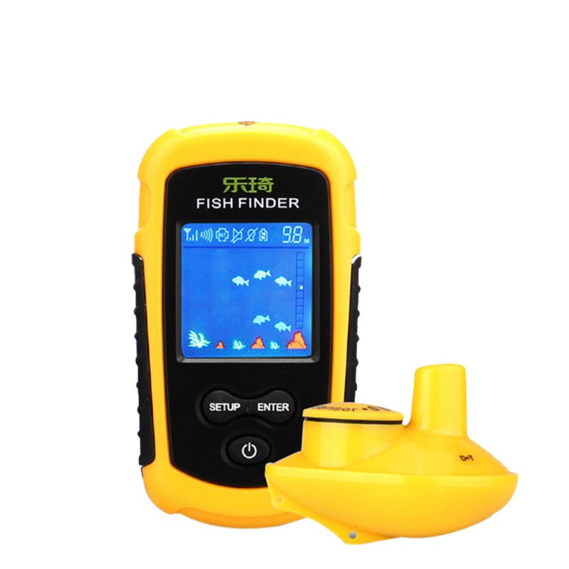 Portable Fish Finder Sonar Sounder Alarm Transducer Fishfinder 0.7-100m fishing Echo Sounder lucky ff718licd 200khz 83khz dual frequency 2 in 1 fish finder 2 8 color lcd portable fishfinder echo sounder sonar for fishing