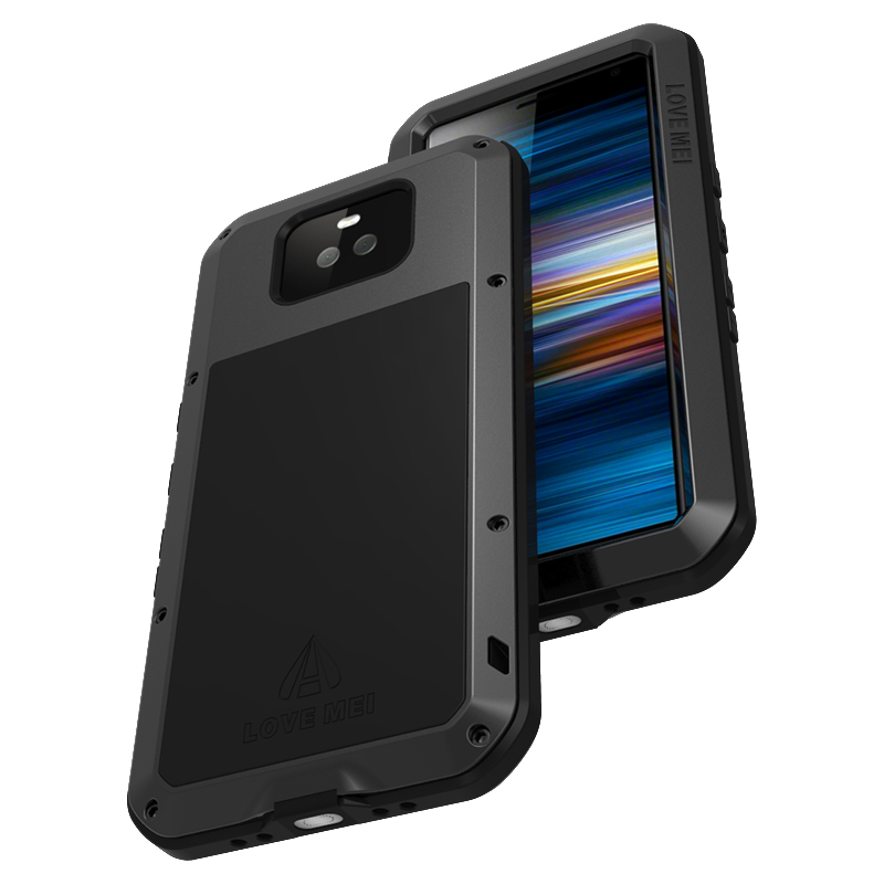 For Sony Xperia 10 Plus Case Shock Dirt Proof Water Resistant Metal Armor Cover Phone Case for Sony Xperia 10 Waterproof Case