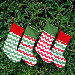 Оптовая Продажа Multi Цвет Chevron Рождественские носки, хлопчатобумажные ткани Радуга шеврон Рождественские носки s с Minky манжеты DOM-101041