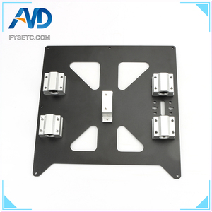 Image 1 - Aluminum Y Carriage Anodized Plate With SC8UU pgrade Prusa i3 V2 Hot Bed Support Plate For Prusa i3 RepRap DIY 3D Printer parts