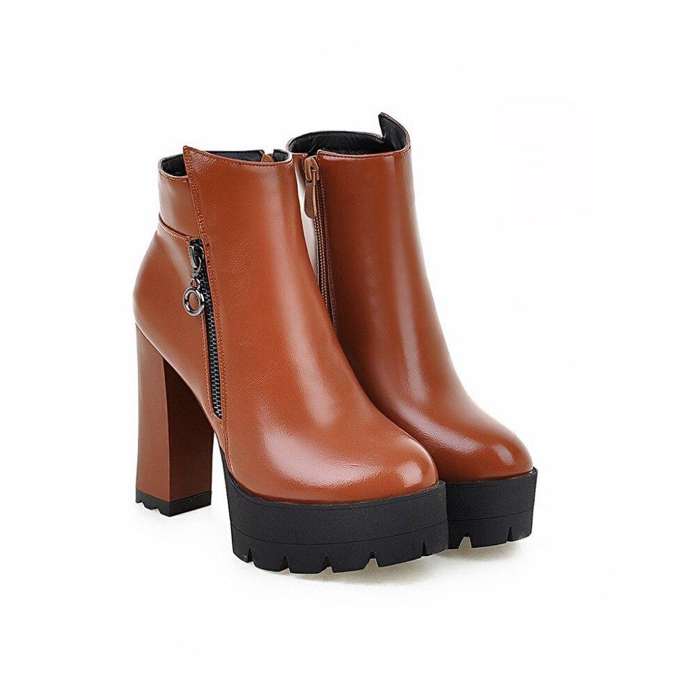Popular Platform Chunky Heel Booties-Buy Cheap Platform Chunky ...