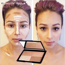 Brand New 4 Color Makeup Face Baked Bronzer and Highlight Powder Palette Make Up Contour Facial Shading Cream Grooming Shadow