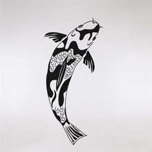 Koi Fish Wall Decals Custom Color Available Vinyl Wall Stickers Home Decor Living Room Art Waterproof Sticker Wallpaper