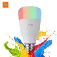 [Английская версия] умный светодиодный светильник Xiao mi Yeelight цветной 800 люмен 10 Вт E27 лимонный смарт-светильник для mi Home App белый/RGB опция