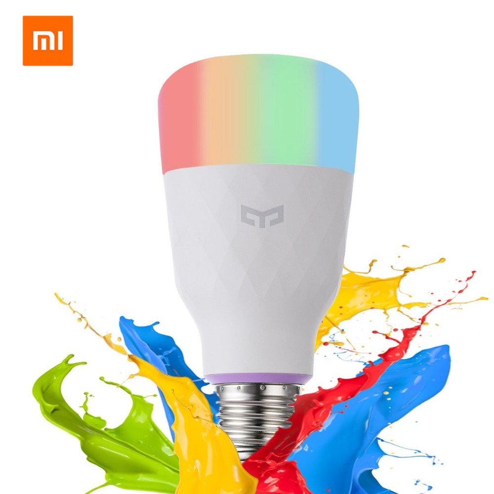 [ English Version ] Xiaomi Yeelight Smart LED Bulb Colorful 800 Lumens 10W E27 Lemon Smart Lamp For Mi Home App White/RGB Option ρολογια τοιχου κλασικα ξυλου
