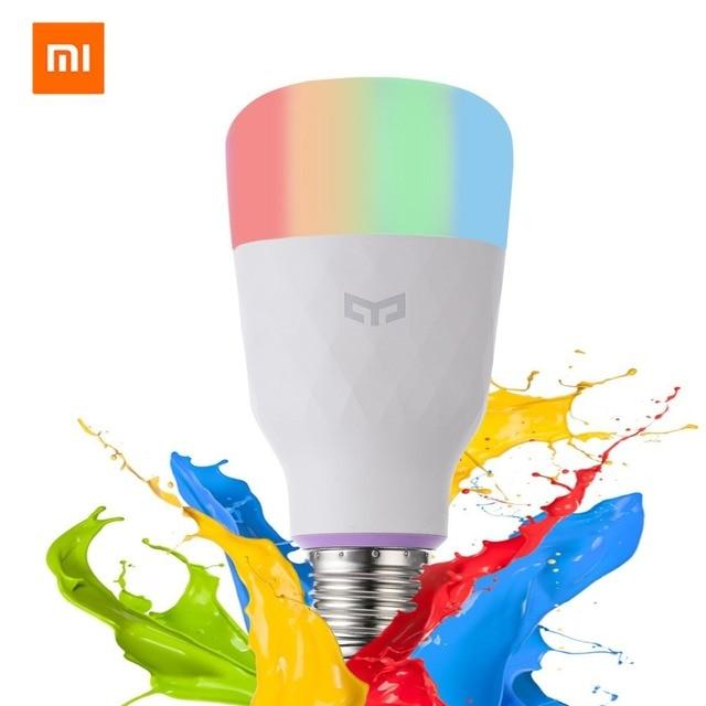[Versión en inglés] bombilla LED inteligente Xiaomi yelight colorida 800 lúmenes 10 W E27 lámpara inteligente de limón para mi inicio App opción Blanco/RGB