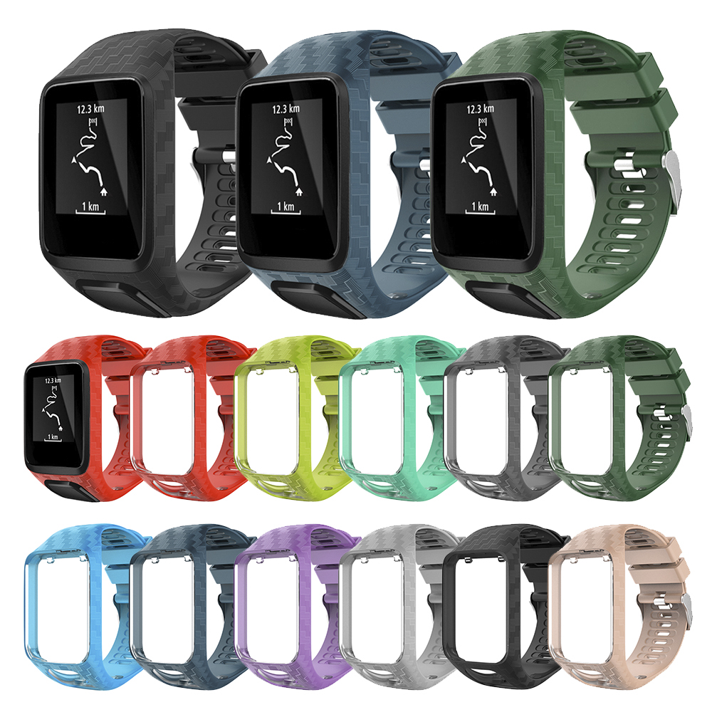 Replacement Strap For TomTom 2 3 Spark Runner Music Cardio GPS Watch Band Watchband Wristband Bracelet Silicone Belt Accessory