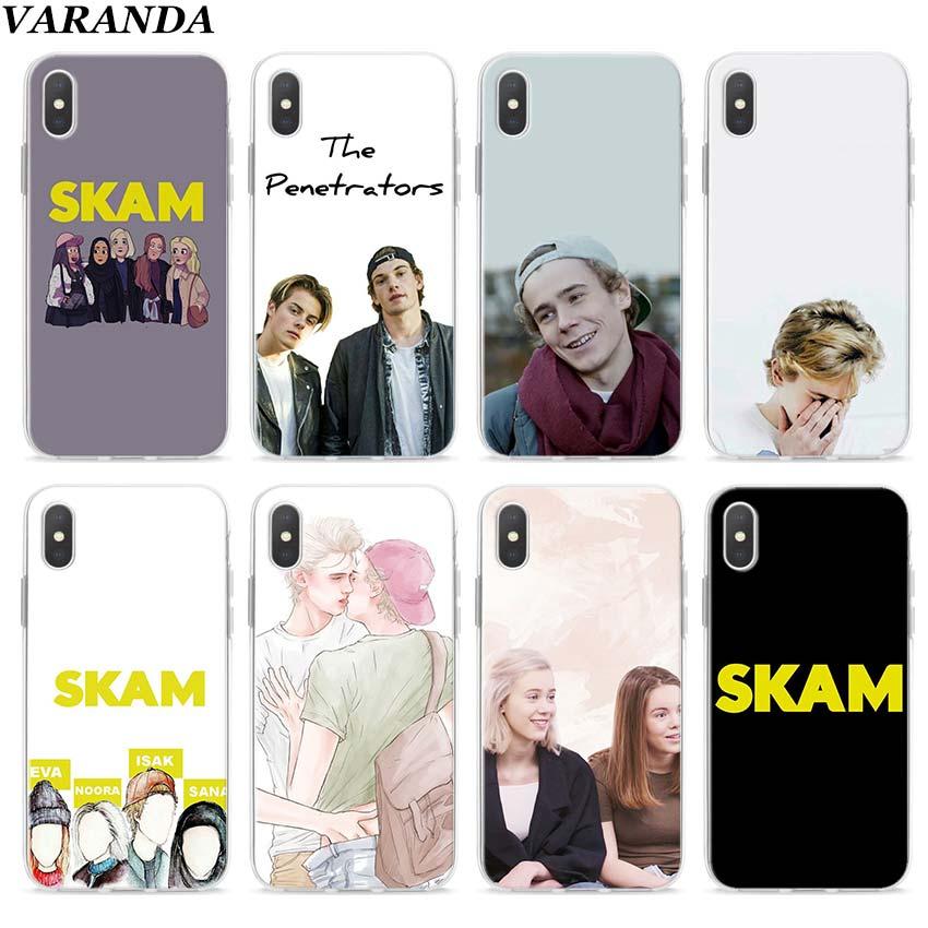Norwegian Tv Skam Clear Case for Apple iPhone 7 8 Plus 6 6s Plus 5 5s