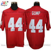 2017 Red Cheap American Football Jersey FORREST GUMP 44 Red Throwback Jerseys Retro Stitched Shirts The