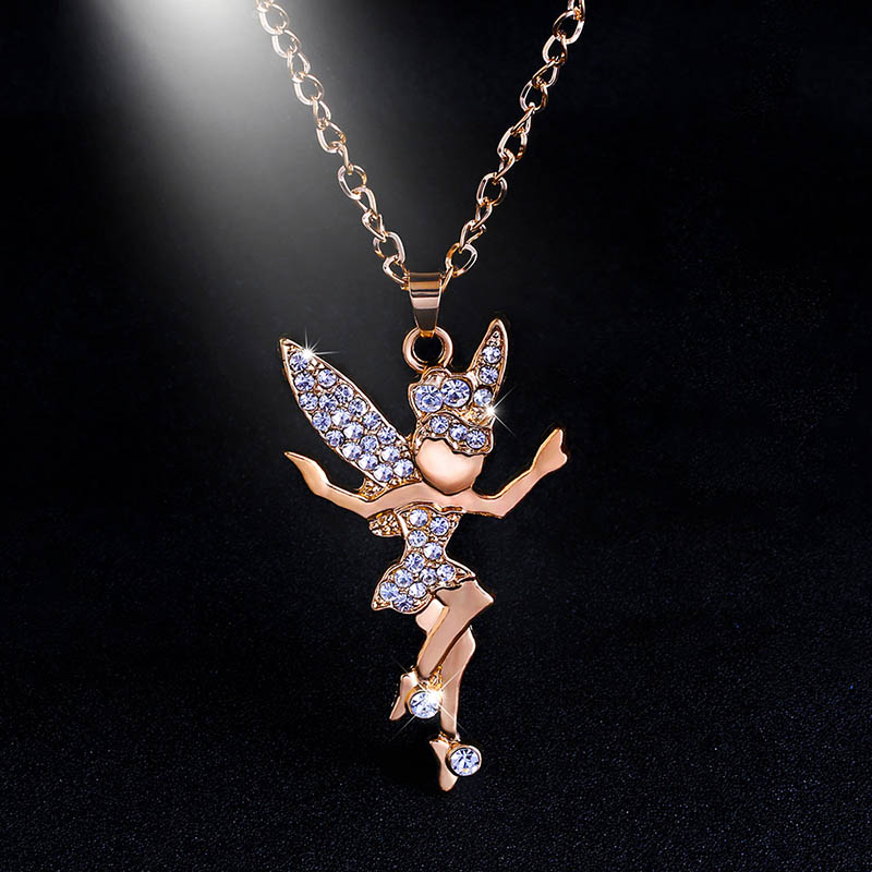 Silver fairy tail necklaces silver chain big angel wing fairy silver fairy tail necklaces silver chain big angel wing fairy necklace pendant for girls christmas jewelry gifts nke n23 in pendant necklaces from jewelry mozeypictures Images