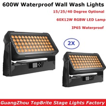 2Pcs/Lot LED Bar Lights RGBW 4IN1 60X12W Wall Wash Outdoor Party Perfect For Stage Wedding Dj Events