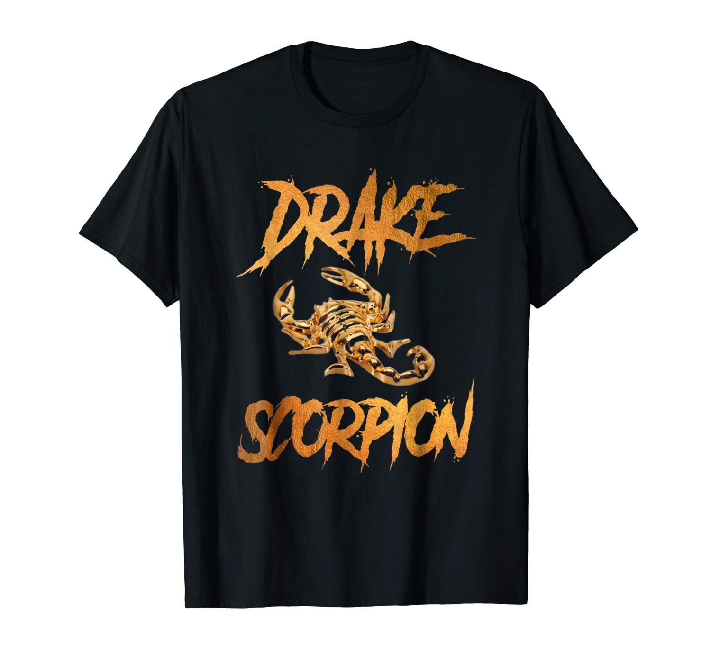Scorpion Gold Drake Brush T-Shirt2018 Print T-Shirt Mens Short