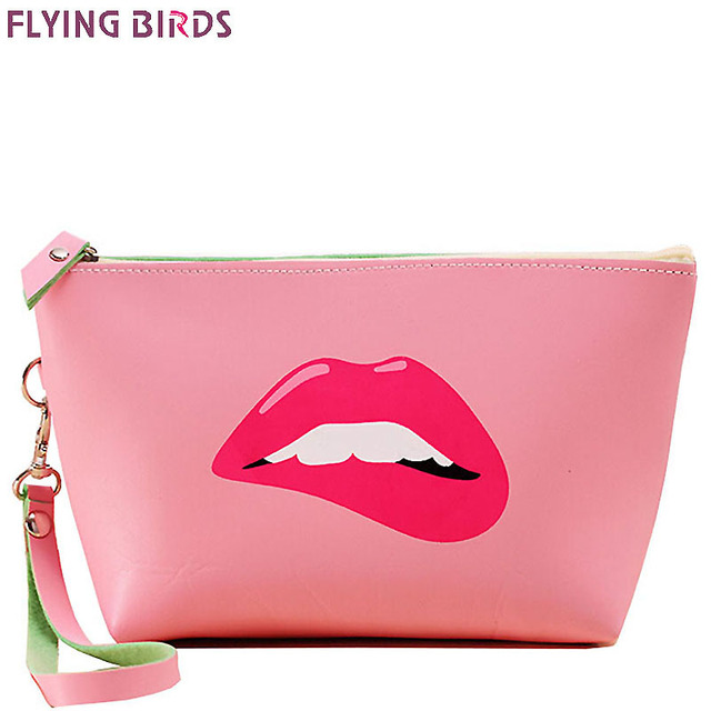 Flying Birds Women Cosmetic Bags Makeup Bag Case Summer Dumpling Large Clutch Packages Waterproof