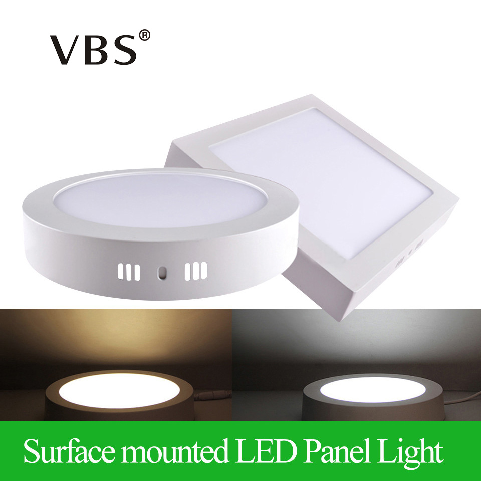 Surface Mounted LED Panel Light 6w 12w 18w Round/Square LED Ceiling Lights  LED Downlight  AC85-265V SMD2835 Ceiling Lamp