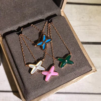 4 colors green blue pink white nature shell cross pendant ,rose gold real silver X necklace choker famous france brand jewelry