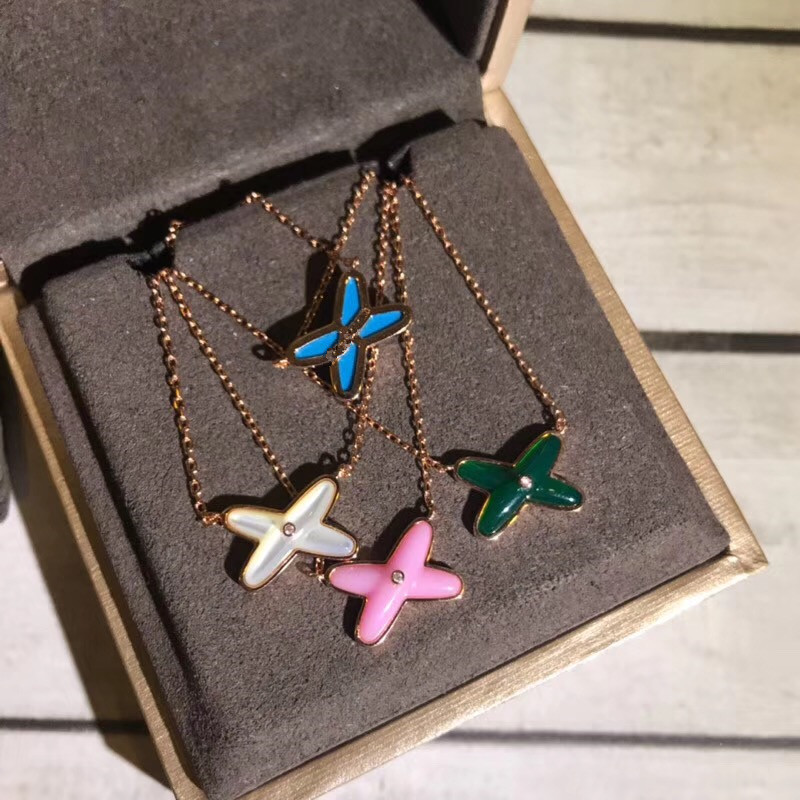 4 colors green blue pink white nature shell cross pendant ,rose gold real silver X necklace choker famous france brand jewelry assorted colors tagboard 18 x 12 blue canary green orange pink 100 pack