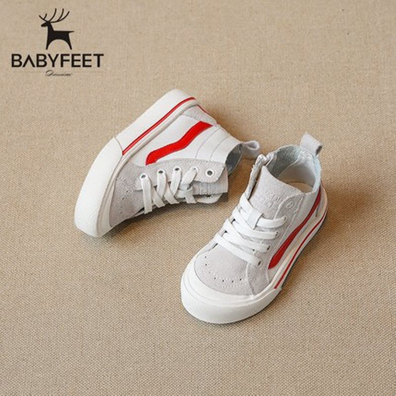 Babyfeet Children Shoes High Top Cow Leather leisure Running kids Sports shoes baby Girls Booties Boys Boots Toddler Sneakers kids shoes girls boys pu leather lace up high children sneakers girl baby shoes sport autumn winter children shoes