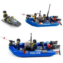 Block Police Series 146pcs Defend the Coast Building Blocks Sets Assembled Bricks DIY Educational Toys With