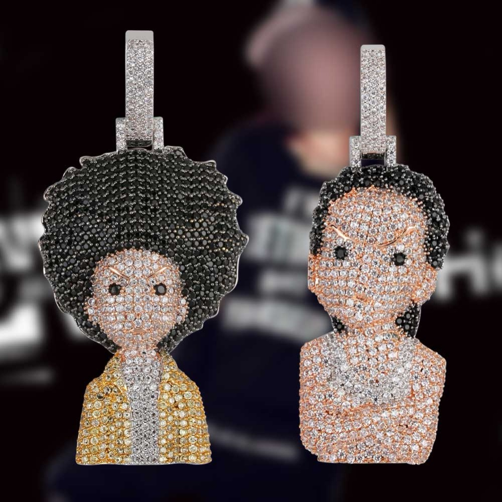 Gucy New Iced Out The Boondock Pendant Necklace Iced Out Micro Pave CZ Stones Hip Hop Pendants & Necklaces for Men WomenGucy New Iced Out The Boondock Pendant Necklace Iced Out Micro Pave CZ Stones Hip Hop Pendants & Necklaces for Men Women