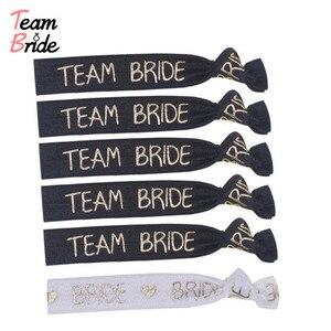 Image 3 - Team Bruid Bachelorette Party Armband Bruid Om Stam Hand Band Hoofd Touw Haaraccessoires Hen Night Bruiloft Benodigdheden Decor
