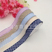 Ribbon 2.5cm Wide Embossed Cross Classic Clothing Accessories Material Home Decoration Polyester