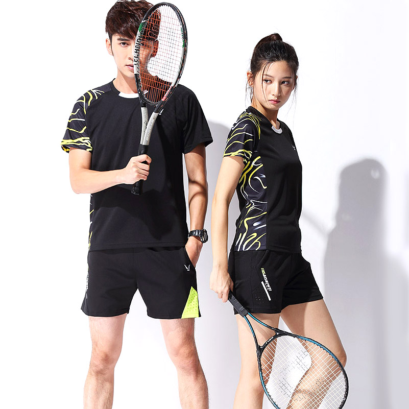 Men & Women Table Tennis Jerseys Badminton Training suit jersey & shorts Set empty Style Short-sleeved Running Wear Tennis