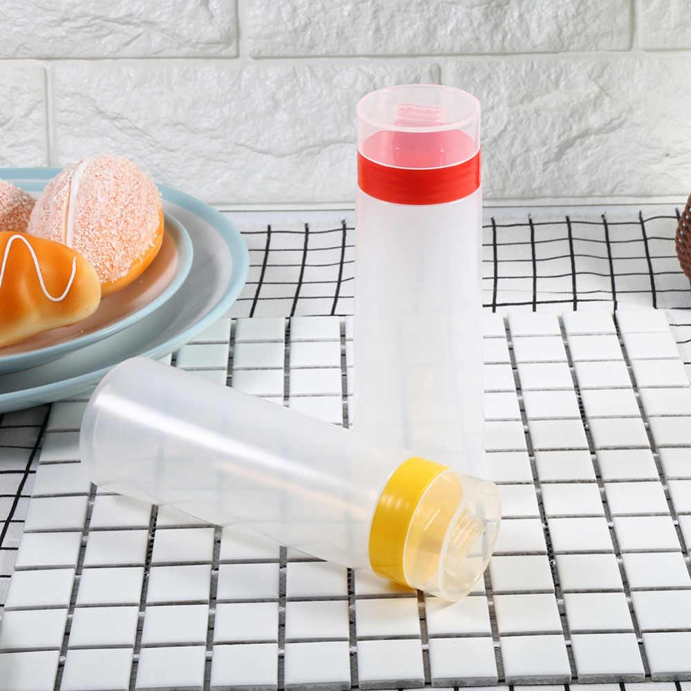 زجاجة صلصة بضغط 4 فتحات راتنج آمن لزيت الزيتون بمربى الكاتشب والمايونيز