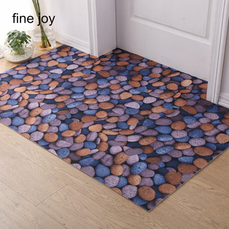 Exceptional Floor Spray Paint Part - 12: ... Fine Joy 3d Stone Grain Bathroom Floor Bedroom Floor Carpet Spray Paint  Non Slip Household Carpet ...