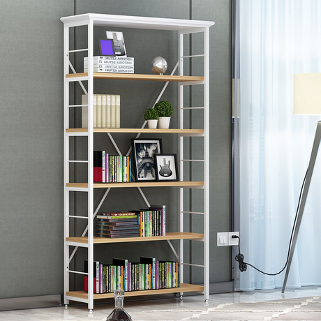 Bookcases Living Room Furniture Home Furniture wood+steel bookshelf cabinet book stand book rack modern minimalist 60*34*175 cm -in Bookcases from Furniture ... & Bookcases Living Room Furniture Home Furniture wood+steel bookshelf ...