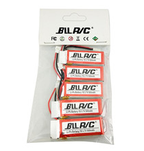 BLLRC 5Pcs Upgraded Spare 3.7V 500mAh 25C Lipo Battery for Hubsan X4 H107 H107L H107C H107D SYMA X5C X5SW RC Quadcopter Parts