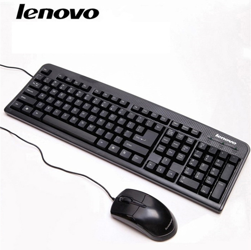 free shipping lenovo wired keyboard mouse suit km4800 waterproof ultra thin desktop notebook usb. Black Bedroom Furniture Sets. Home Design Ideas