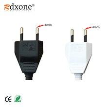 4.0mm EU Male Female Butt VDE Power Cord Plug socket Europ plug Light-fixture 2 core Connection