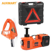 Auxmart 3 Functions Air Pump Lighting Car Lifting Electric Hydraulic Jack Impact Wrench 5T 12V Automobile Maintenance Tools