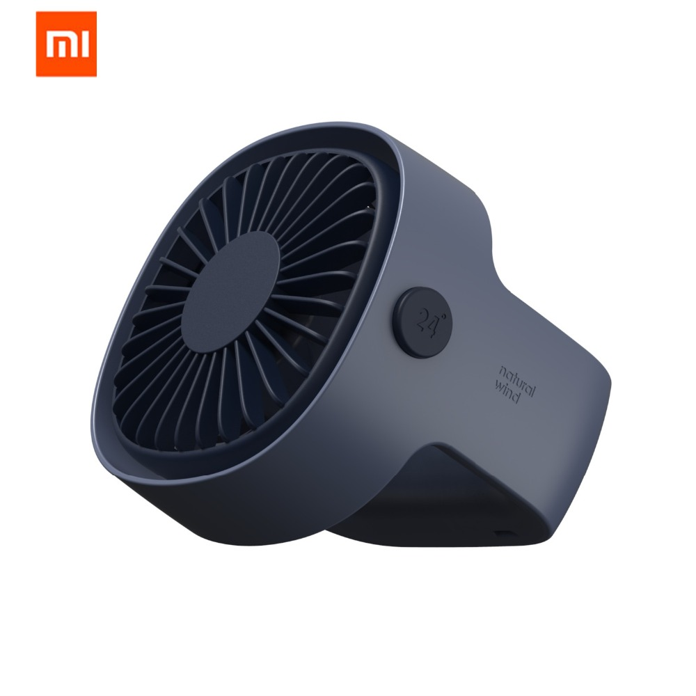 Xiaomi Mijia Cafele Protable USB Fan Mini Clip Desktop Fan Silent 3 Speed Fans Home Student Dormitory Bedside Desktop Office Fan