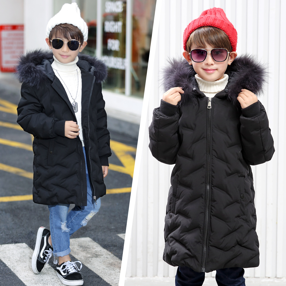 2017 New Fashion Children Down Coat Winter Warm Thick Solid Color Down Jacket For Boys White Duck Down Kids Clothes -30 Degree girls thick duck down russia winter jacket children coats warm 100% thick duck down new children s winter feather jacket 30